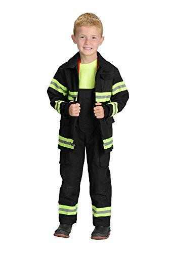 Jr. Fire Fighter Suit, size 8/10 (Black)