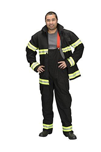 Adult Fire Fighter Suit, size SML (Black)