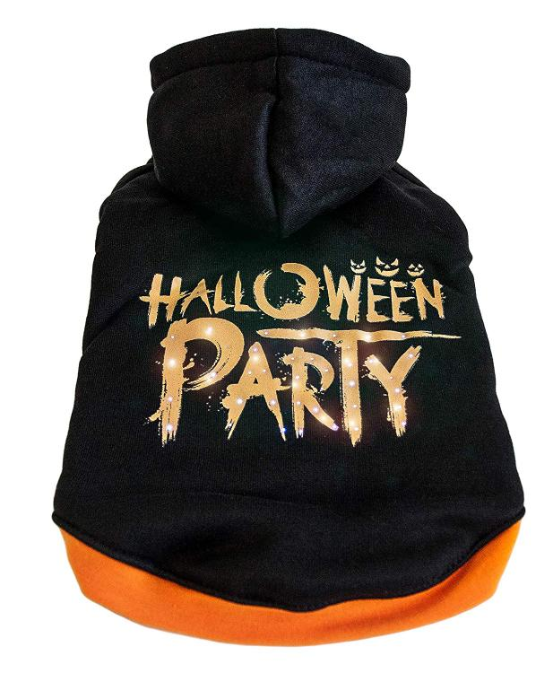 Pet Life LED Lighting Halloween Party Hooded Sweater Pet Costume