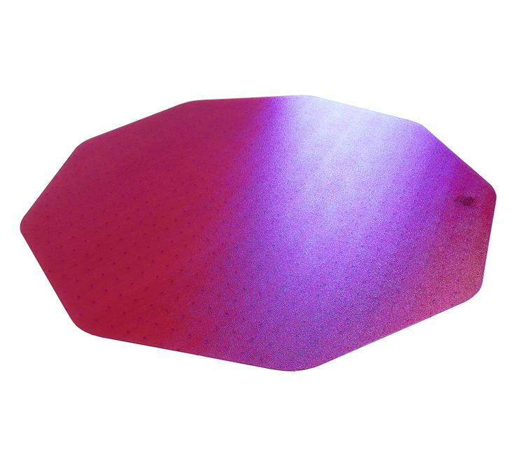 Cleartex 9Mat   Ultimat Chair Mat   Cerise Pink Polycarbonate   For Low & Medium Pile Carpets (up to 1/2