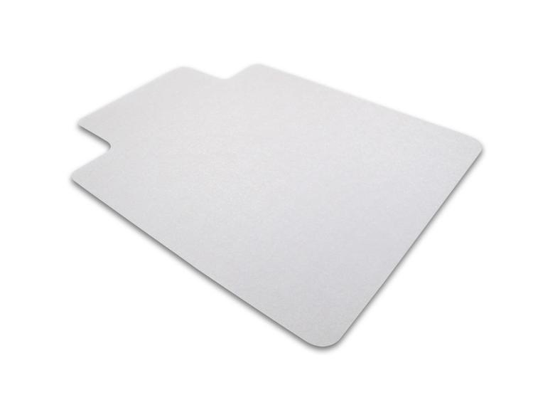Cleartex UnoMat   Anti-Slip Chair Mat   For Polished Hard Floors / Very Low Pile Carpets / Carpet Tiles  Rectangular with Lip   Size 48