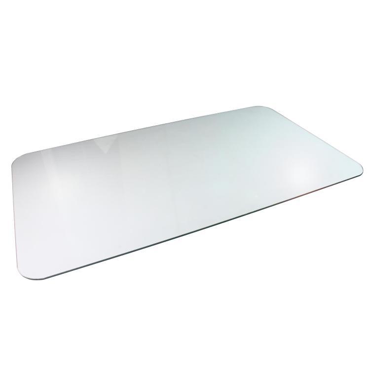 Floortex Cleartex Glaciermat   Reinforced Glass Chair Mat   Executive Chair Mat   For Hard Floors & All Pile Carpets   Size 36