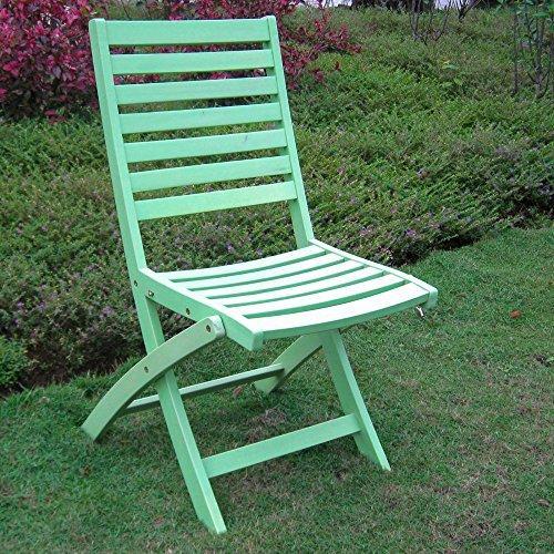 International Caravan Acacia Folding Ladder Back Chair