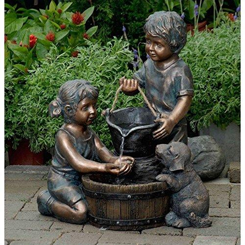 Jeco 2 Kids And Dog Outdoor/Indoor Water Fountain [Item # FCL066]
