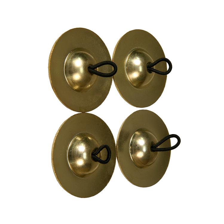 Mid-East Plain Cast Brass Finger Cymbals 1.9