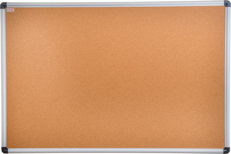 Viztex | Cork Bulletin Board with Aluminium Trim | Size 24