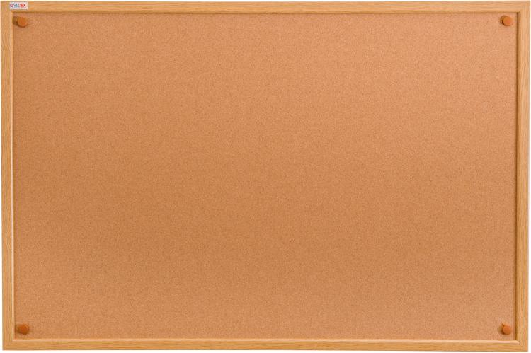 Viztex | Cork Bulletin Board with Oak Effect Frame | Size 24