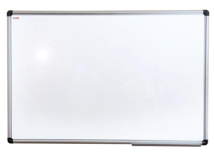 Viztex   Porcelain Magnetic Dry Erase Board   Aluminium Frame   Size 36