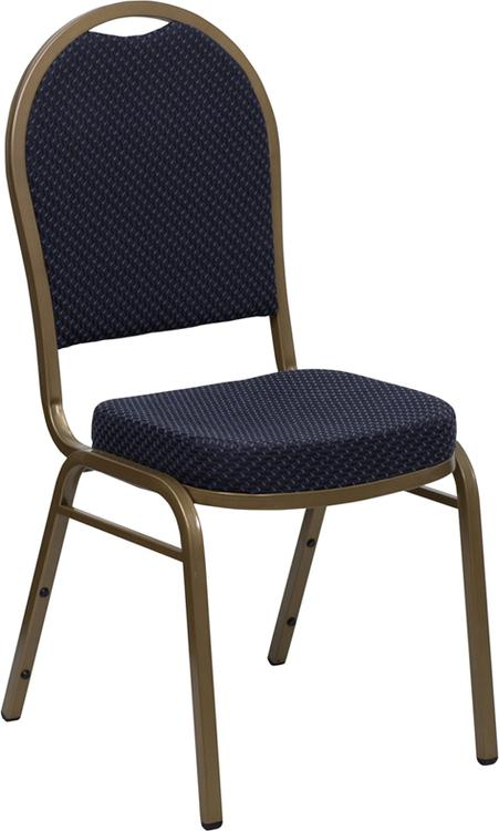 Hercules Series Dome Back Stacking Banquet Chair In Fabric