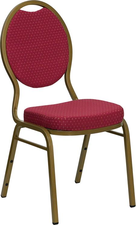 Hercules Series Teardrop Back Stacking Banquet Chair In Fabric