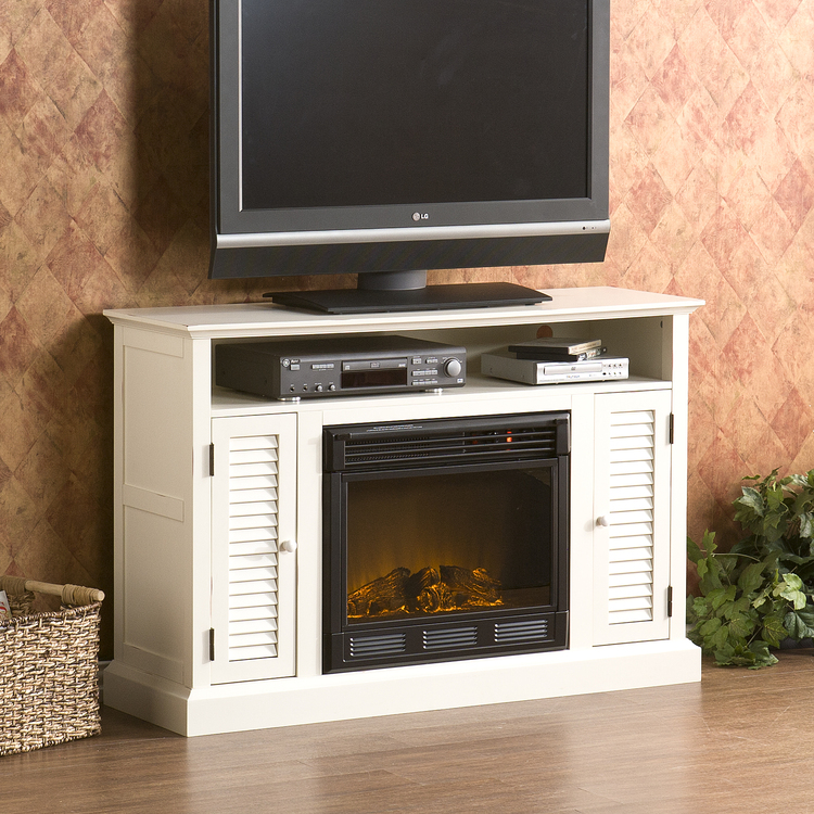 Southern Enterprises Antebellum Media Electric Fireplace
