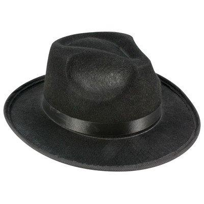 Fedora Hat Adult, HAT ONLY, Black