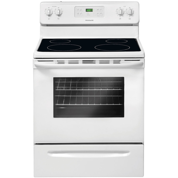 30 In. Freestanding Smooth Top Electric Range – White