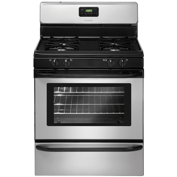 30 In. Freestanding Gas Range – Silver Mist