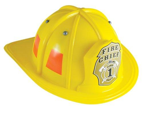 Jr. Fire Fighter, HELMET ONLY, YELLOW. Adj Youth Size