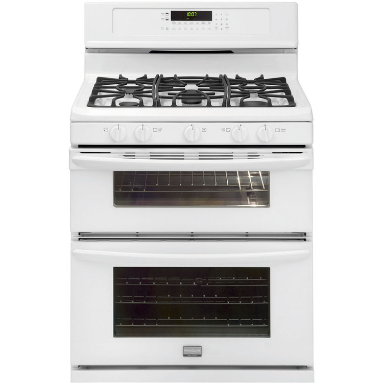 30 In. Gallery Series Double Oven Gas Range - White