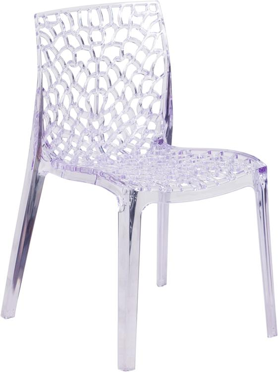 Flash Furniture Vision Series Transparent Stacking Side Chair