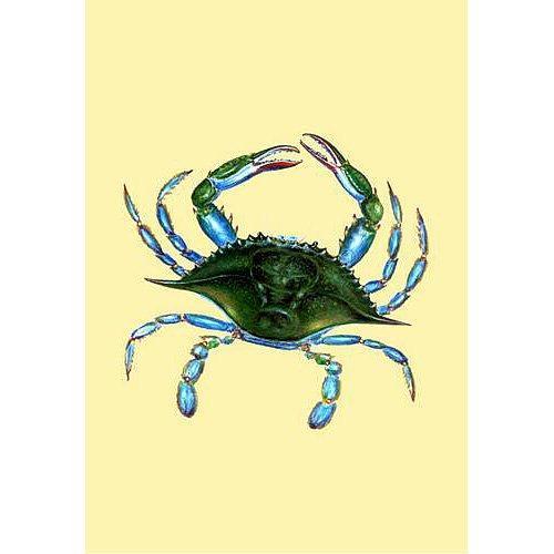 Female Blue Crab Yellow Flag 12.5x18