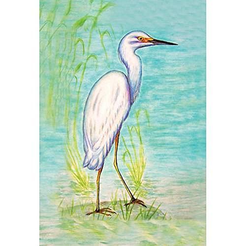 Snowy Egret Flag 12.5x18