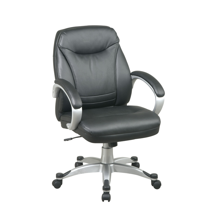 Deluxe Faux Leather Mid Back Chair