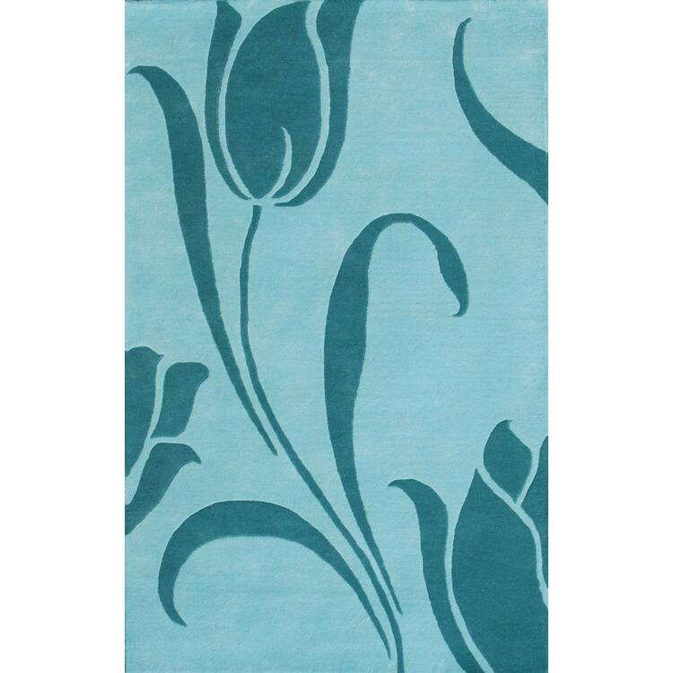 Floral Transitional Wool Hand Tufted Rug