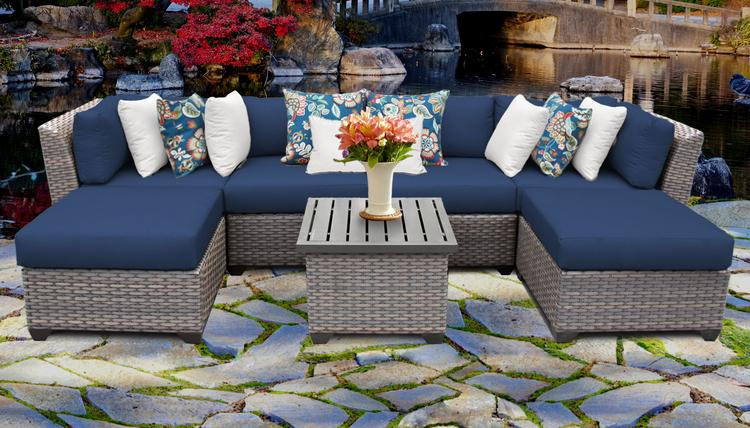 Florence 7 Piece Outdoor Wicker Patio Furniture Set 07a