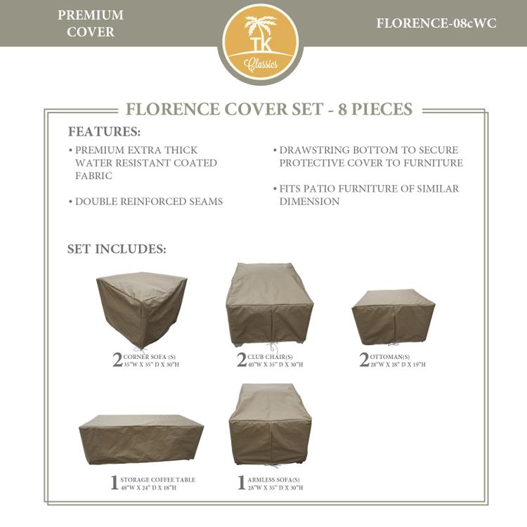 FLORENCE-08c Protective Cover Set, in Grey