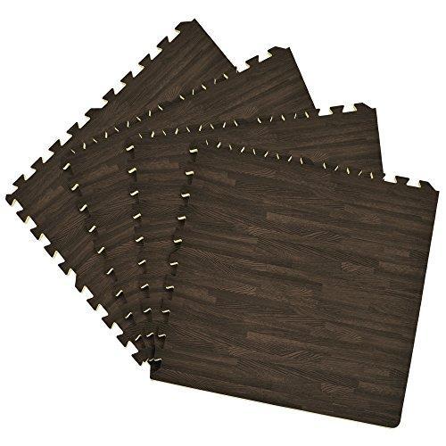 Achim Interlocking Foam 24x24 Anti Fatigue Floor Tiles 4 tiles/16 Sq. Ft. - Charcoal