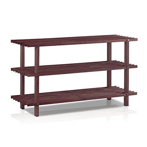Furinno Pine Solid Wood Shoe Rack