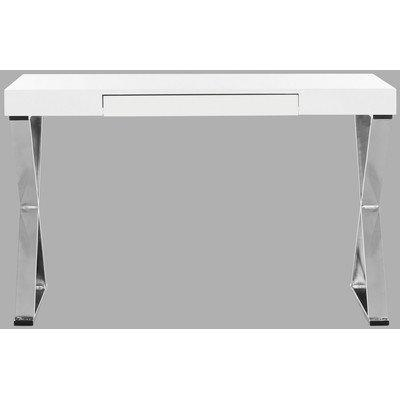 Paley 47''W One Drawer Lacquer & Chrome  Desk