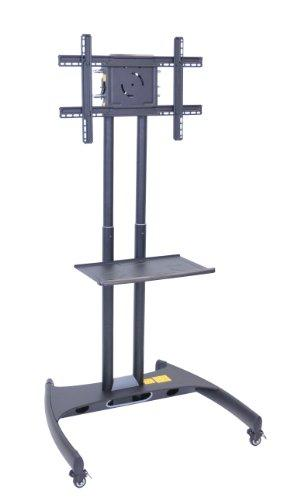 Luxor Height Adjustable Rolling Tv Stand