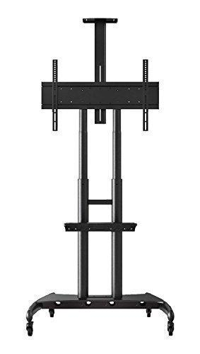 Height Adjustable Rolling Tv Stand