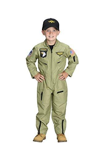 Jr. Fighter Pilot Suit, with embroidered cap, size 6/8