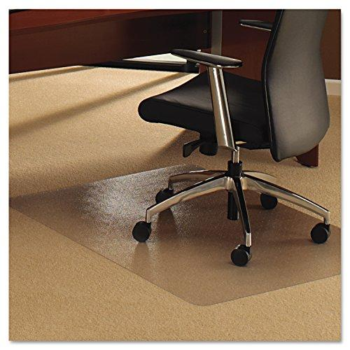 Cleartex Ultimat Polycarbonate Rectangular Chairmat for Plush Pile Carpets Over 1/2
