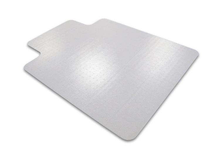 Floortex Cleartex Advantagemat   Chair Mat for Low Pile Carpets   Clear PVC   Rectangular with Lip   Size 36