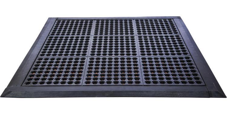 Doortex | Anti-Fatigue Mat - Modular System | Black | Square | Size 36