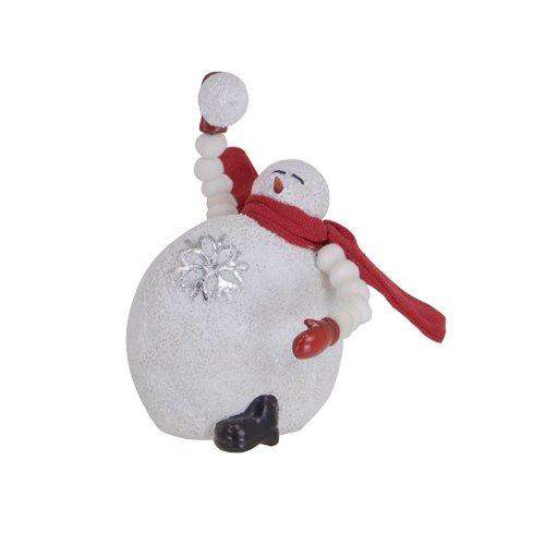 Throwing Snowball Snowman Figurine