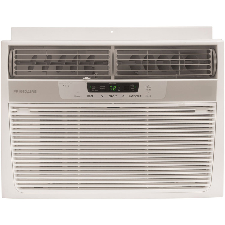 12,000 BTU 115-Volt Window-Mounted Compact Air Conditioner with Full-Function Remote Control