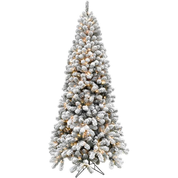 6.5-Ft. Flocked Alaskan Pine Christmas Tree