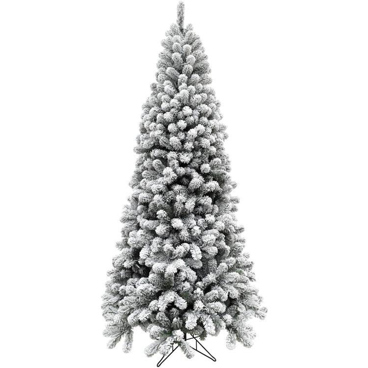 7.5-Ft. Flocked Alaskan Pine Christmas Tree