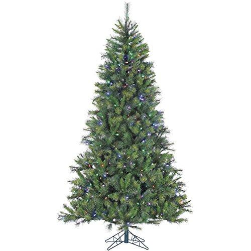 Fraser Hill FFCM075-6GREZ 7.5 Ft. Canyon Pine Christmas Tree with Multi-Color LED String Lighting