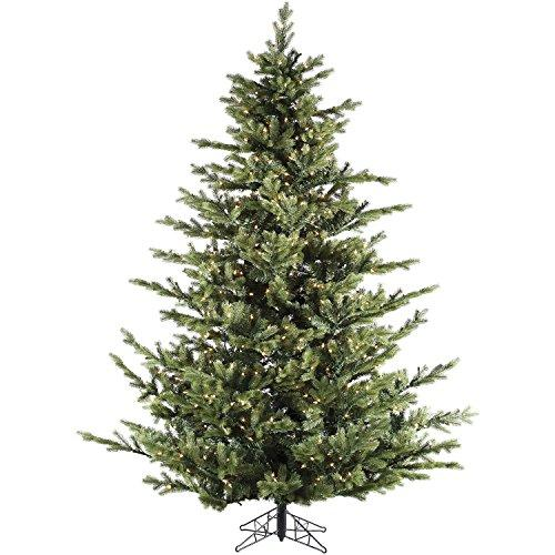 7.5 Ft. Foxtail Pine Christmas Tree with Multi-Color LED String Lighting [Item # FRASERFFFX075-6GREZ]