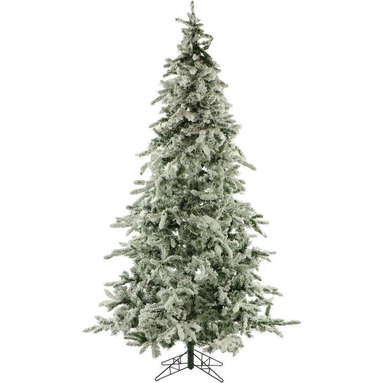 Flocked Mountain Pine Christmas Tree