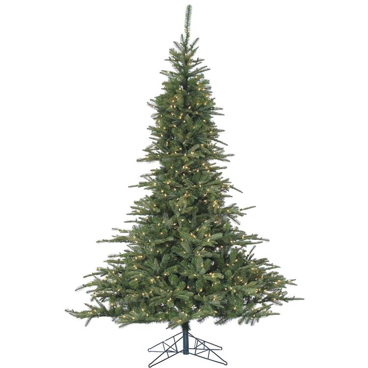 7.5 Ft. Noble Fir Christmas Tree with Clear LED String Lighting