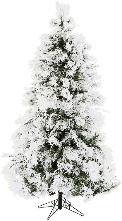 Fraser Hill Flocked Snowy Pine Christmas Tree [Item # FRASERFFSN090-0SN]