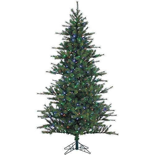 Fraser Hill FFSP075-6GREZ 7.5 Ft. Southern Peace Pine Christmas Tree with Multi-Color LED String Lighting