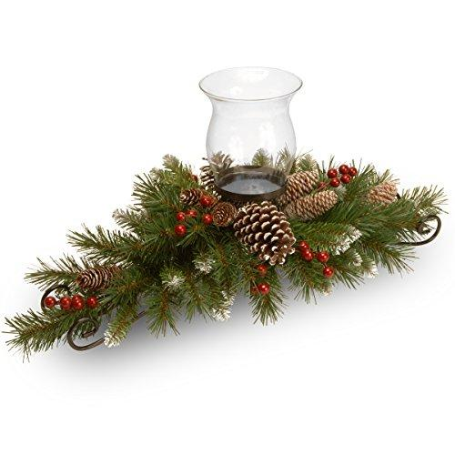 National Tree Frosted Berry Centerpiece and Candle Holder