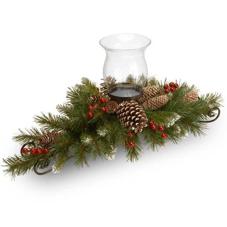 National Tree 30 inch Frosted Berry Centerpiece