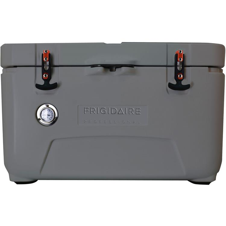 Frigidaire Professional 70-Qt. Roto-Molded Hard Cooler with Built-In Thermometer, Graphite