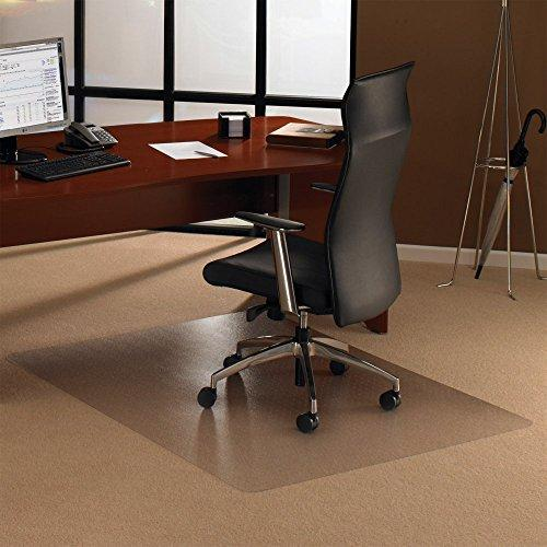Ecotex Enhanced Polymer Rectangular Chairmat for Standard Pile Carpets up to 3/8